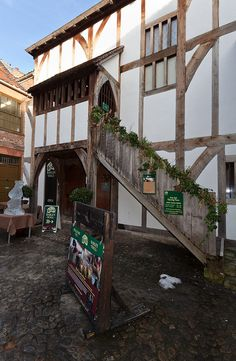 Barley Hall, a medieval house recently recovered, which dates from the 1360s. York, UK