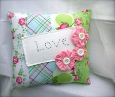 Small Shabby Chic Decor Pillow