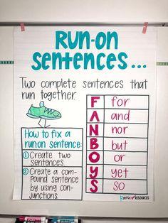 Writing Mini Lesson #4- Run-On Sentences - Rockin Resources