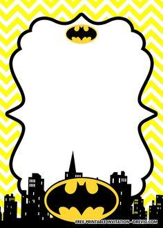 FREE Printable Batman Birthday Invitation Templates - Batman Printables - Ideas of Batman Printables - Free FREE Printable Batman Birthday Invitation Templates Lego Batman Invitations, Superhero Birthday Invitations, Free Printable Birthday Invitations, Birthday Card Template, Party Invitations Kids, Birthday Invitation Templates, Batman Free, Batman Party, Lego Batman Birthday