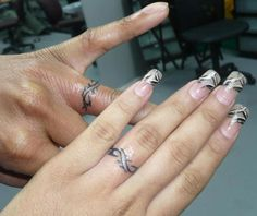 ... Wedding Ring Tattoo--I would love to get these for out 35th anniversary together