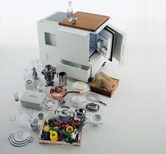 Wir Präsentieren Ihnen Eine Charmante Mini Küche, Die Die Tradition Der  Jahren Wiederbelebt. Die Singleküche Von Boffi Kombiniert Funktionalität