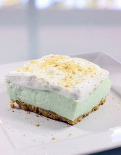 This easy key lime cloud cake melts in your mouth link a cloud.