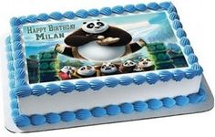 Kung Fu Panda 3 Edible Birthday Cake Topper OR Cupcake Topper, Decor - Edible Prints On Cake (Edible Cake &Cupcake Topper) Cupcake Toppers, Edible Cake Toppers, Birthday Cake Toppers, Cupcake Cakes, Panda Birthday Cake, It's Your Birthday, Happy Birthday, Bolo Panda, Kung Fu Panda 3