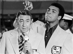 Howard Cosell and Muhammad Ali at the Munich Olympics (1972)