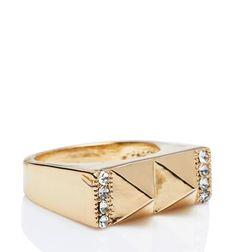 Gemma Pyramid Ring