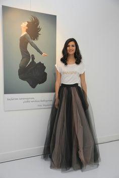 Tuba Büyüküstün look Turkish Fashion, Turkish Beauty, Fashion Tv, Winter Fashion Outfits, Tuba Pictures, Ballet Inspired Fashion, Stylish Street Style, Tulle Dress, Celebrity Style