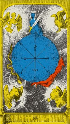 Royal Fez Moroccan Tarot : 10 Wheel of Fortune Alchemy History, Accurate Tarot Reading, Fortune Telling Cards, Epic Of Gilgamesh, Tarot Major Arcana, Wheel Of Fortune, Picture Cards, Tarot Decks, Deck Of Cards