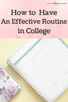 Are you ready to learn how to have an effective routine in college? This post goes step by step through my college routine to help you determine yours!