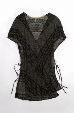 Vitamin A® 'Black Diamond Crochet Talitha' Tunic Cover-Up