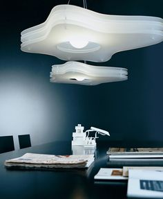 Fluorescent methacrylate pendant #lamp CLOUD H1 by Rotaliana | #design Toyo Ito @rotaliana