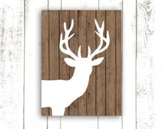 white deer encaustic art - Google Search