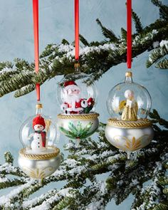 -56YR De Carlini Globe Christmas Ornaments #HorchowHoliday14