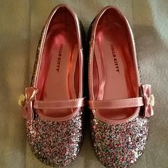 Hello kitty glitter ballet flats Worn 2 times Hello Kitty Shoes Flats & Loafers