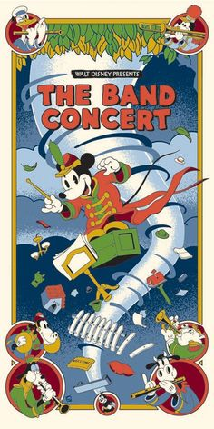 Walt Disney's Mickey Mouse The Band Concert by Serban Cristescu Poster