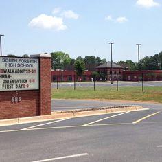 South Forsyth High School  - Off Hwy 141. Cumming, GA. - SE Forsyth County - Area 221