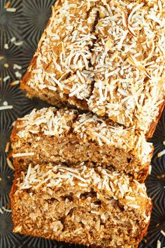 Healthy Coconut Banana Bready by tablefortwoblog: The intoxicating smell of coconut banana bread will be drifting throughout your house as soon as you pop this in the oven! Super moist and tender; you will want to make a double batch. #Banana_Bread #Coconut #Healthy