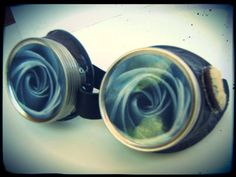 awesome Steampunk Goggles - Vintage Siding - Grey Rose Decals See it here! http://steampunkvapemod.com/product/steampunk-goggles-vintage-siding-grey-rose-decals/