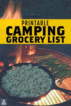 KOA Printable Camping Grocery List