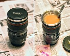 This high quality and super detailed camera lens is actually a coffee mug you can drink out of! The camera lens coffee mug is a great gift for photography enthusiasts, and will surely turn many heads when people see you drinking out of it. Another gift for my sister-what you think?