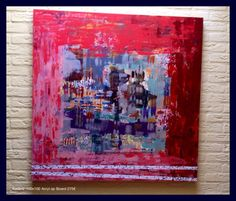'Omlijsting' Acryl op board 100x100  Licht in gewicht en mooi afgewerkt