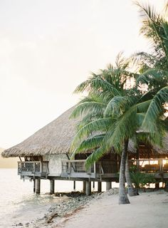Looking for romantic places then this one is for you.  Honeymoon suite on the beach in Bora Bora.