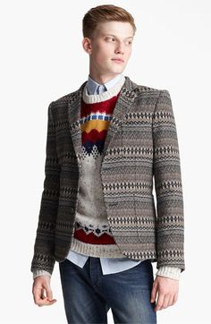 Topman Pattern Blazer available at #Nordstrom