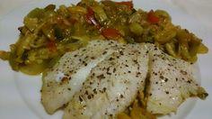 Fácil y Sano : Gallo de san pedro en wok de verduras al curry