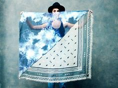 Geometric Cloud scarf by scoutandcatalogue