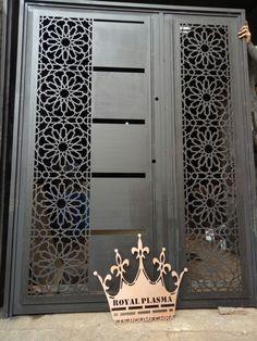 Front Gate Design, Steel Gate Design, House Gate Design, Door Gate Design, Room Door Design, Main Door Design, Metal Gates, Wrought Iron Doors, Sliding Gate