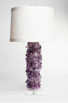 Amethyst Crystal Lamp | domino.com