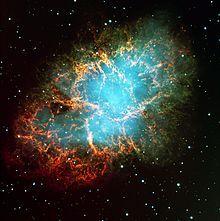 Nébuleuse du Crabe, un rémanent de la supernova de l'an 1054