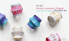 DIY 03. Petites Lanternes Origami par Atelier des Nautes (www.atelierdesnautes.fr) avec papiers Origami de Mon Petit Art.