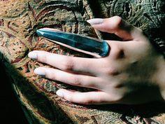 Silver Metallic Full Finger Ring by AdaraArtistic on Etsy, $35.00