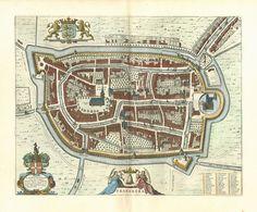 Franeker, Friesland, Netherlands - 1649 Blaeu
