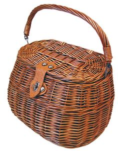 Basil BasSimply II wicker basket for the front handlebar stem of your bicycle.