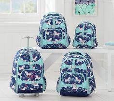 Mackenzie Navy Happy Horses Backpack