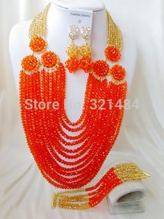 Find More Jewelry Sets Information about 2015 New Arrived! champagne gold orange crystal costume bridal nigerian wedding african beads jewelry sets AAA 007,High Quality jewelry sets for girls,China jewelry glass Suppliers, Cheap jewelry box for ring from P&W_Jewelry Accessories Co.,Ltd. on Aliexpress.com