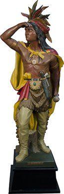 "Cigar Store Figural Indian Statue ""Captain Jack"" c"