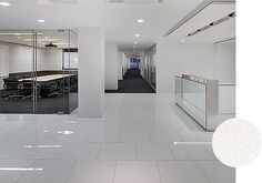 HOK Headquarters used Crystallized Glass Stone Collection - to reflect the future of design while looking timeless Corporate Interiors, Hospitality Design, Contemporary, Modern, Innovation, Tiles, Bathtub, Flooring, York