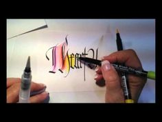 DIY Rainbow background by Calligrapher Lisa Engelbrecht.#Repin By:Pinterest++ for iPad#