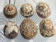 Beaded Crochet Rocks by Hedda Vater