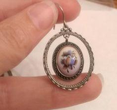 Earring Russian Finift Enamel Silver Hand by EmbracetheEarth