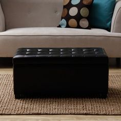 Storage-Bench-Ottoman-Faux-Leather-Color-Seat-Cocktail-Coffee-Table-Footstool