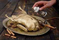 Edible spray paint. Anyone serving up a gold turkey this Thanksgiving?