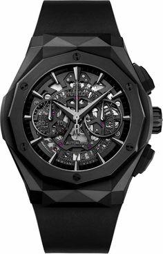Hublot Orlinski Classic Fusion Aerofusion Chronograph All Black Watch Swiss Luxury Watches, Luxury Watches For Men, Hublot Classic Fusion, Swiss Watch Brands, Hublot Watches, Men's Watches, Tourbillon Watch, Hand Watch, Men Accessories