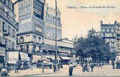 La place de Clichy et l'avenue de Clichy, vers 1900.