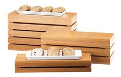 Bamboo Rectangle Crate Risers Item: 1943-3-60, 1943-7-60, and 1943-11-60. These classic looking crates are not only risers, but can also be used as bins to store products or display them in a new fashion, adding diversity to your presentation. http://www.calmil.com/index.php?page=shop.product_details&flypage=flypage.tpl&category_id=25&product_id=1655&option=com_virtuemart&Itemid=19#sthash.ElawxLsZ.dpuf