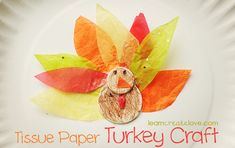 . tissu paper, paper turkey, turkey craft