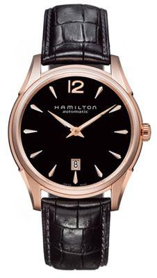 H38645735 Hamilton Jazzmaster Rose Gold Tone Black Dial Mens Watch. 08a9fe9dfa0